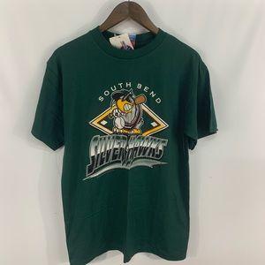 Vintage NWT South Bend Silverhawks MILB T-shirt